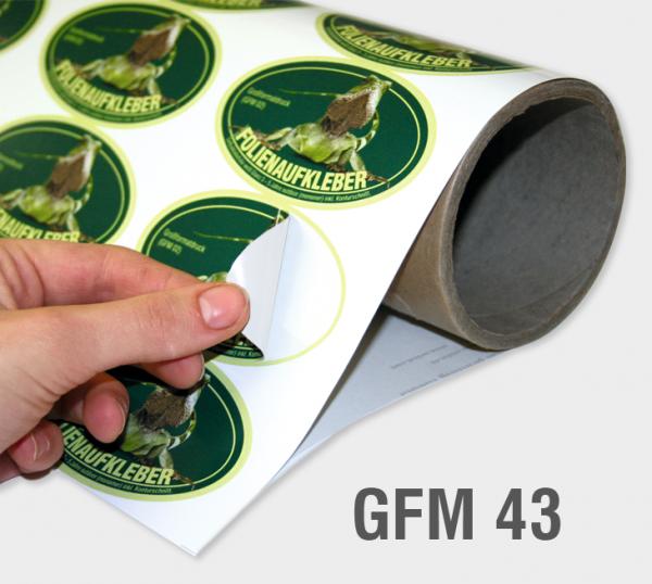 GFM 43 - Adhäsionsfolie 150 µm, weiß, glänzend