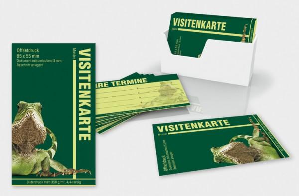 Visitenkarten, ohne Folierung, 350 g/qm Bilderdruck matt