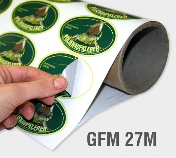 GFM 27M - Selbstklebefolie 70 µm, weiß, matt (polymer)